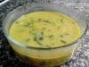 Sopa de grão com agrião