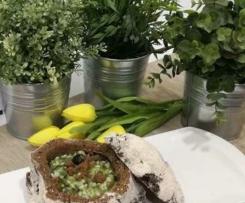 Risotto de bacalhau com grelos e broa de avintes
