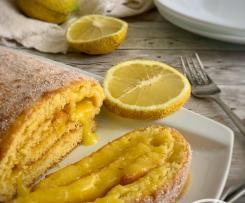 Torta de limão com curd de limão