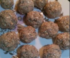 Almôndegas de frango com cogumelos