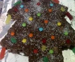 Salame de Chocolate versão Natal