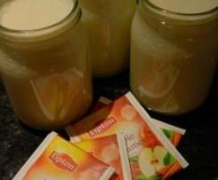 Iogurte de chá de maçã com canela