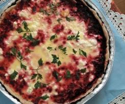 Tarte de beterraba e queijo feta (adaptada da receita do Blog do Casal Mistério)
