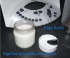 Iogurtes de Chá Verde e Baunilha