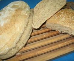 Pão meio-integral com sementes de sésamo