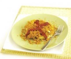 Bacalhau com Broa e Pimentos