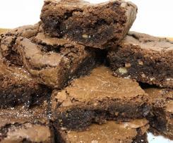 Brownies de avelã e nozes