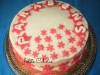 Bolo de aniversário com cobertura de pasta de açúcar