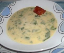 Sopa de grão, espinafres e farinheira