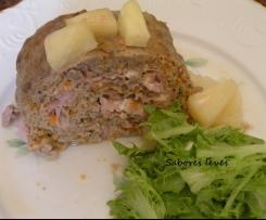 Rolo de carne com ananas