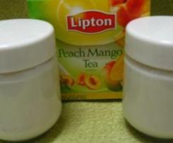 iogurtes Chá Pessego Manga