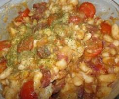 Salada de Feijão Branco com Linguiça