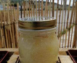 Esfoliante corporal de coco e limão