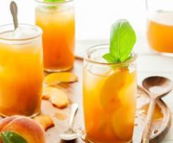Chá gelado de pêssego imune-impulsionador