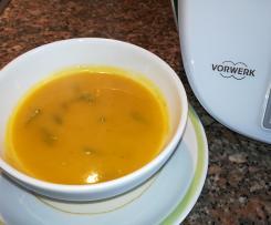 Sopa de Feijão Verde e Abóbora (sem batata)