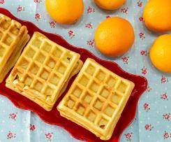 Waffles de laranja
