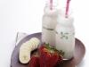 Iogurte líquido de Banana e Morango
