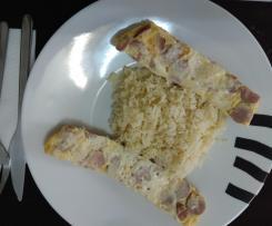 Omelete ao Vapor com Arroz