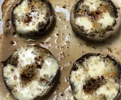 Cogumelos portobello recheados