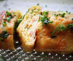 Tortilha de Batata, Enrolada com Chourição e Mozzarella