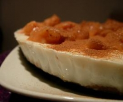 Cheesecake light de banana, canela e iogurte