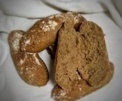 Cacetes de trigo barbela - Massa Mãe