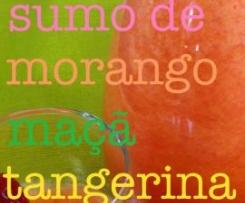 Sumo de morango, maça e tangerina