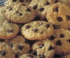 Cookies de Pepitas de Chocolate e Aveia