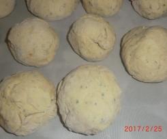 Pão com chouriço com mistura
