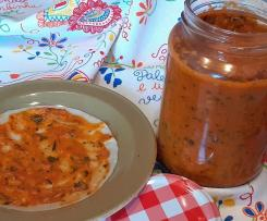Molho de Tomate para Pizzas com Manjericão e Oregãos