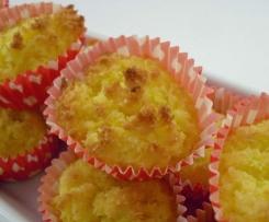 Bolos de côco com laranja