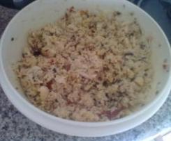 Cuscuz com Frango, Tomate seco e Azeitonas