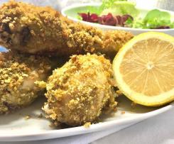 Pernas de frango crocantes no forno