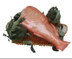 Redfish a vapor com legumes