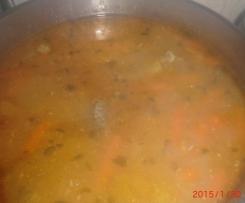 Sopa de peixe com legumes