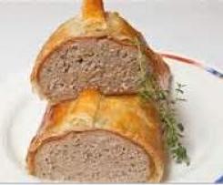rolo de carne com massa folhada