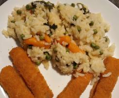 Variante Arroz de Legumes com Douradinhos