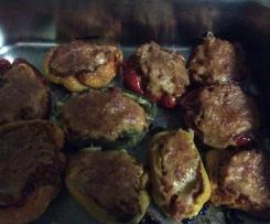 Pimentos Recheados de Carne Moída