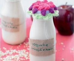 Iogurte líquido com maçã e aveia