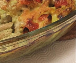 Penne com legumes (receita vegetariana)