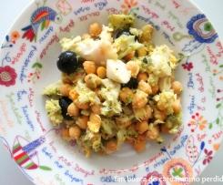 Salada morna de bacalhau e grão