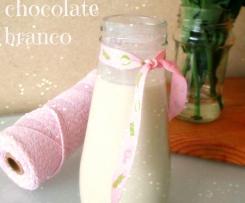 Iogurte líquido de chocolate branco