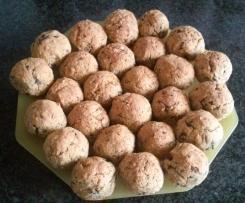 Almondegas de lentilhas e cogumelos