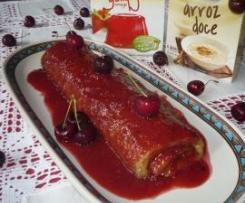 Torta de Cereja com Molho de Frutos Silvestres