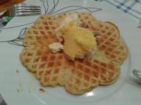 Waffle com gelado