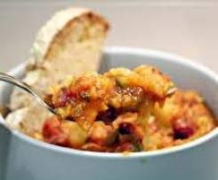 Variante de Estufado Vegetariano de Legumes e Feijão
